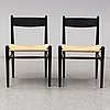 """A set of six """"ch 36"""" chairs by hans j wegner, carl hansen & søn. signed with label."""