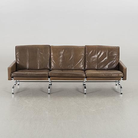 A poul kjaerholm pk31/3 leather sofa for e kold christensen denmark later part of the 20th century.