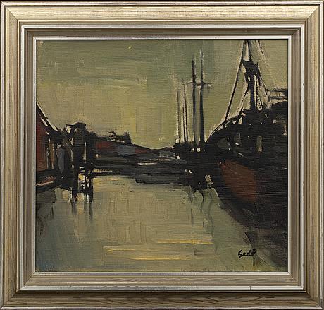 Bertil gadÖ, oil on canvas signed.