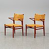 A pair of armchairs, second half of the 20th century.