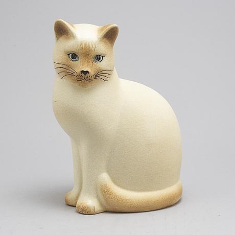 A stoneware figurine by lisa larson, 'måns', gustavsberg, 1900 talets slut