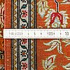 A rug, silk qum, probably ca 145 x 100 cm.