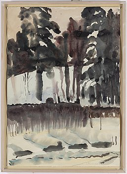 LARIS STRUNKE, watercolour, signed.