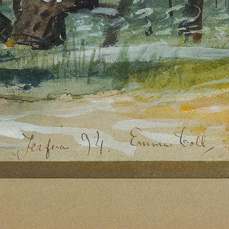 Emma toll, watercolour, signed and dated -94.