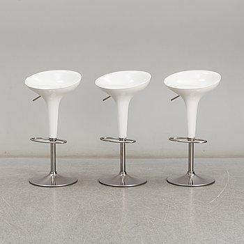 STEFANO GIOVANNONI, three 'Bombo' stools from Magis, Italy.