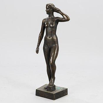 VILJO SAVIKURKI, sculpture, bronze, signed and dated -57.