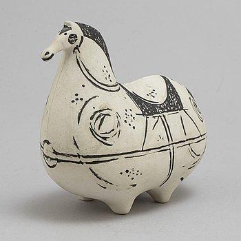 a 'Springare' stoneware figurine by Stig Lindberg for Gustavsberg studio.