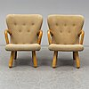 A pair of ikea 1950s 'Åke' easy chairs.