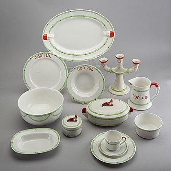 A 58 pcs porcelain Christmas service from Gustavsberg/Rörstrand. Late 20th century / 21st.