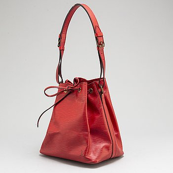 LOUIS VUITTON, a red 'Epi petit Noé' bag.