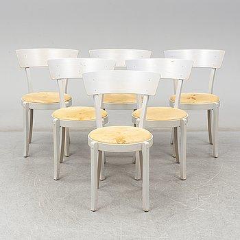 ÅKE AXELSSON, six 'Gästis' chairs from Galleri Stolen, 1996.