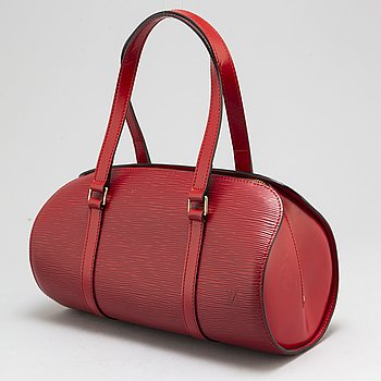 LOUIS VUITTON,  a red 'Epi Soufflot' bag.