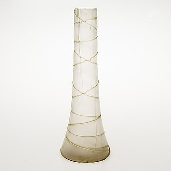 An early 20th Century Jugend style glass vase.