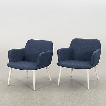 GLISMAND & RÜDIGER, a pair of armchairs.