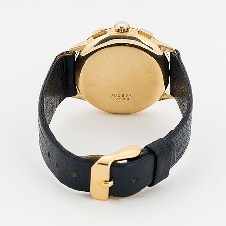 Universal, genève, uni compax, kronograf, armbandsur, 36 mm.