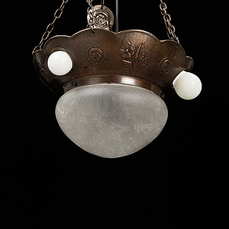 An early 20th century ceiling light