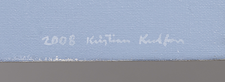 Kristian krokfors, blue landscape.