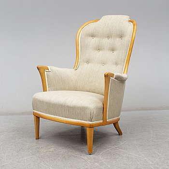 A 'Vår fru' easy chair by Carl Malmsten, Bodafors, second half of the 20th century.