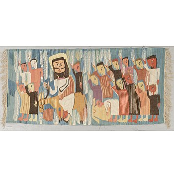 VÄVD TAPET, gobelängteknik, ca 70,5 x 147,5 cm, Wissa Wassefs vävskola i Haranya utanför Kairo.