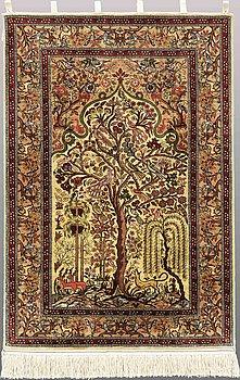 MATTA, figural silke, ca 117 x 78 cm.