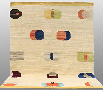 CARPET, flat weave, ca 340 x 265 cm.