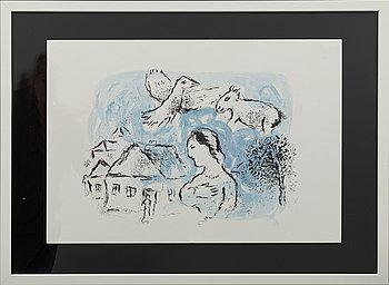 MARC CHAGALL, colour lithographe, unsigned, from Derrière le Miroir no 225 1977.