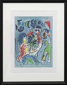 MARC CHAGALL, colour lithographe, unsigned, from Chagall Lithographe III.