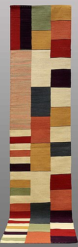 Gallerimatta, slätväv, ca 387 x 83 cm