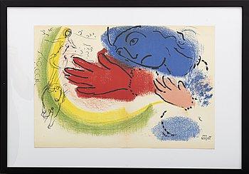 MARC CHAGALL, färglitografi, signerad i trycket.