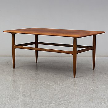 a teak coffee table from Denmark in the second half of the 20th century.