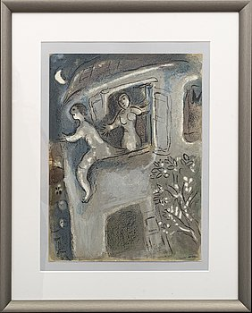 MARC CHAGALL, colour lithographe, unsigned, from Verve 37-38 1960.