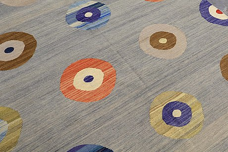 Carpet, flat weave, ca 229 x 182 cm