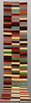 RUNNER, flat weave, ca 393 x 79 cm.