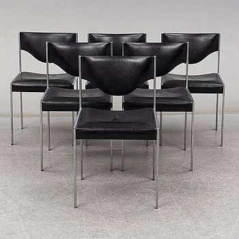 A set of six late 20th century chairs.