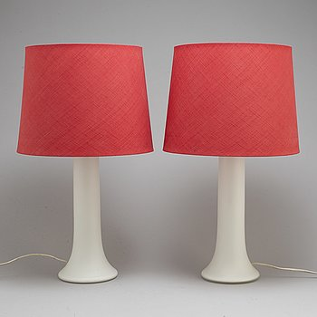 A pair of glass table light, 1960's.