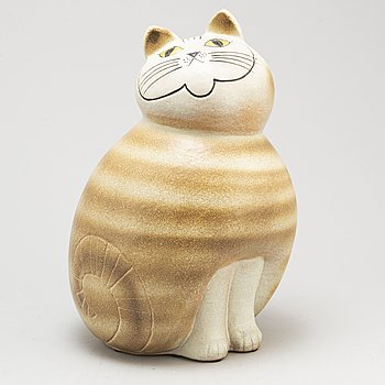 "LISA LARSON, a stone wear ""Maxikatt"" figurine, for K-studion, Gustavsberg."