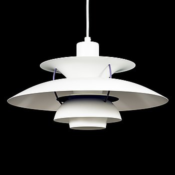 POUL HENNINGSEN, a 'PH 5' ceiling light from Louis Poulsen, Denmark.
