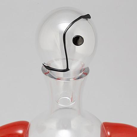 Kjell engman, a glass caraffe, for kosta boda