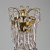 A late gustavian style three light candelabra