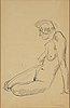 Isaac grünewald, indian ink on paper, signed grünewald.