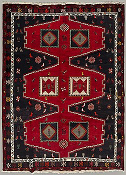 An old Klardasht carpet ca 311 x 214 cm.