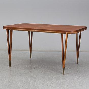 BERTIL FRIDHAGEN, A 1950's/60's teak dining table from SMF, Bodafors.