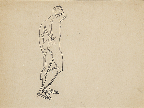Isaac grünewald, pencil on paper.