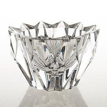 AIMO OKKOLIN, A Water Lily Crystal Bowl, signed Aimo Okkolin, Riihimäen Lasi Oy.