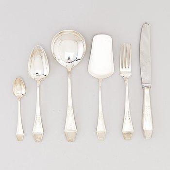 A 47-piece set of Suomi silver cutlery by Kultateollisuus Oy, Turku 1963-78.