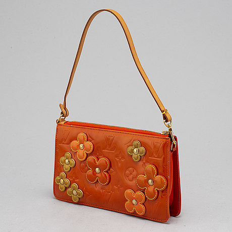 Louis vuitton, vernis lexington fleurs pochette.
