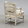A late 20th century gustavian style armchair