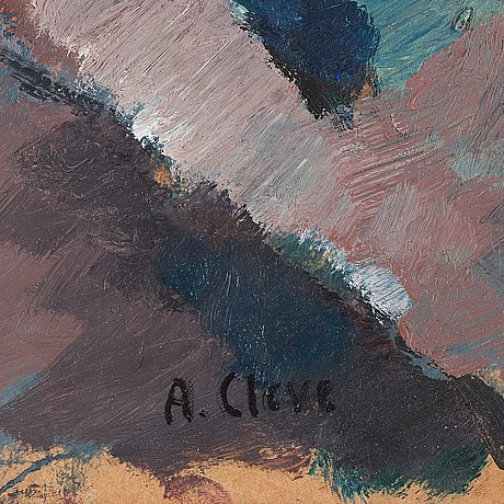 Agnes cleve, signed a cleve. according to inscription on verso executed 1917. oil on paper panel.