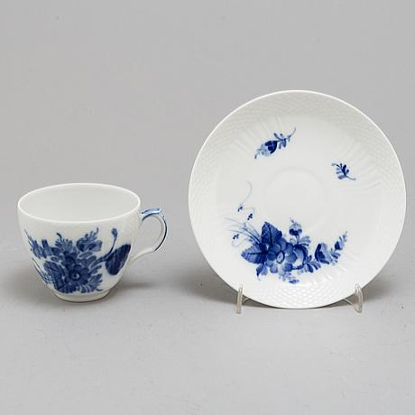 Royal copenhagen, a part 'blå blomst' coffee porcelain service (30 pieces)