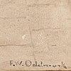 Frans wilhelm odelmark, watercolour, signed f.w. odelmark
